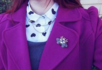MOB 19 Manteau violet