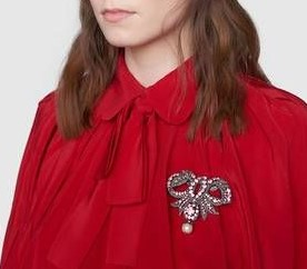 MOB 22 Blouse rouge Gucci
