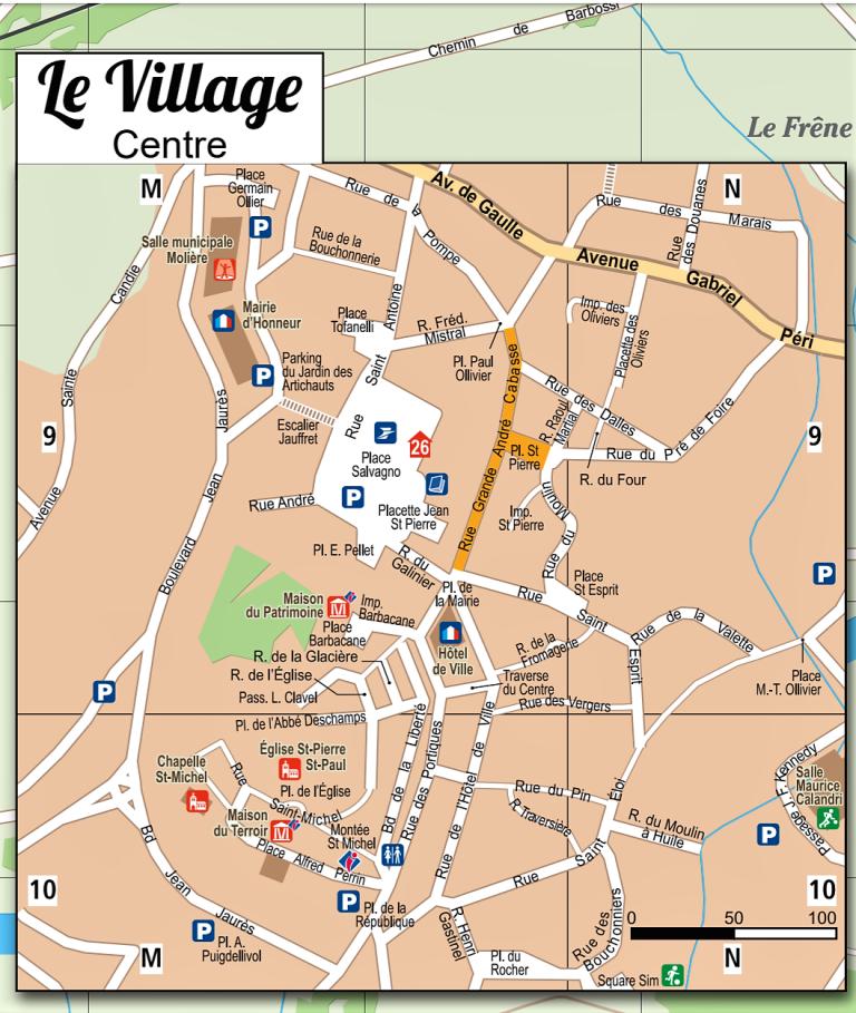 Plan Village Roquebrune